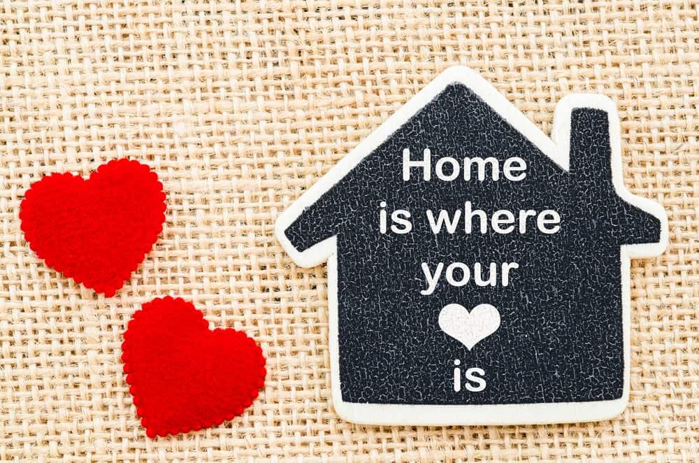 בית הוא המקום בו הלב נמצא